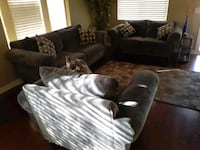 Large sofa, loveseat and chair.