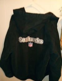 black and white Seattle Seahawks printed jacket
