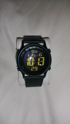 Armani Digital Leather Watch