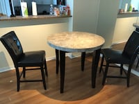 3 Piece Dinner Table with Table and Two Chairs