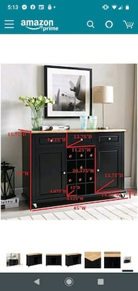 Kings Brand Furniture Wine Rack Sideboard Buffet Server Console Table