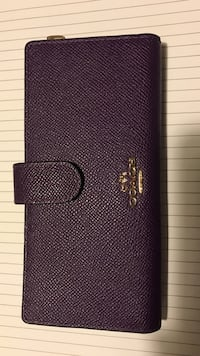 Coach leather wallet