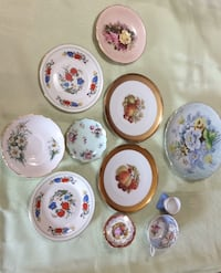 Various hand design mini plates fine china made in England 1775 Toronto, M3K 1Y3
