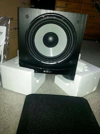 black and gray subwoofer speaker Toronto, M3H 1R8