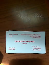 Quick stop painting services Houston