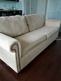 Pier 1 Alton beige couch with queen pullout bed Toronto, M4W 1A8