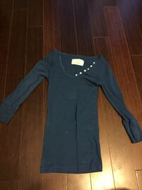 blue long sleeve top (small)
