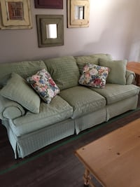 Soft green sofa and love seat in excellent condition. no smoke no dog. Best offer