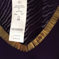 BEBE dress sz xs purple n gold...beautiful NEW...will ship Reynoldsville, 15851
