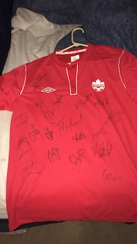 Team Canada jersey signed by Canadian women's international soccer team St Catharines, L2S