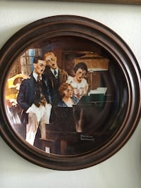 Norman Rockwell collectors plate with wood frame and put in there Florissant, 63033