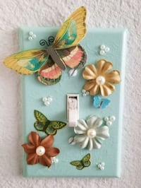 Butterfly floral light switch cover  Orlando, 32824