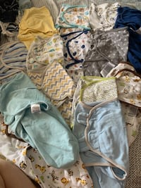 Newborn swaddles and clothing