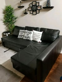 black leather sectional sofa  Lewisville, 75067