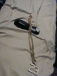 24k gold chain with dimond 23 (Gold plated)