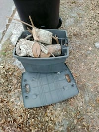 Free Firewood and Plastic Tote