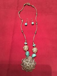 Necklace and earring Turquoise  Melbourne, 32940