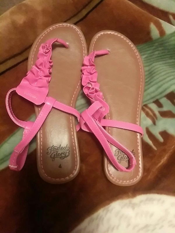 pink-and-brown sandals