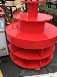 red and white metal rack BUENAPARK