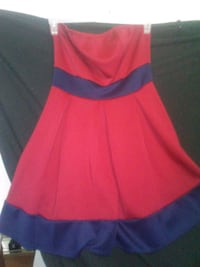 Size XL strapless red and navy blue dress Anchorage, 99508