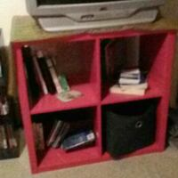 Red 4 cube room organizer Tacoma, 98407