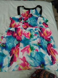 c2831f866d Used blue floral-printed sleeveless dress for sale in Spring Hill - letgo