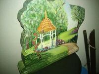Painted Wooden Music playing Scene
