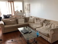 Taupe sectional couch New York, 11691