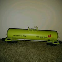 Hudson's Bay Oil and Gas metal toy tanker / train  Edmonton, T6X 1J9