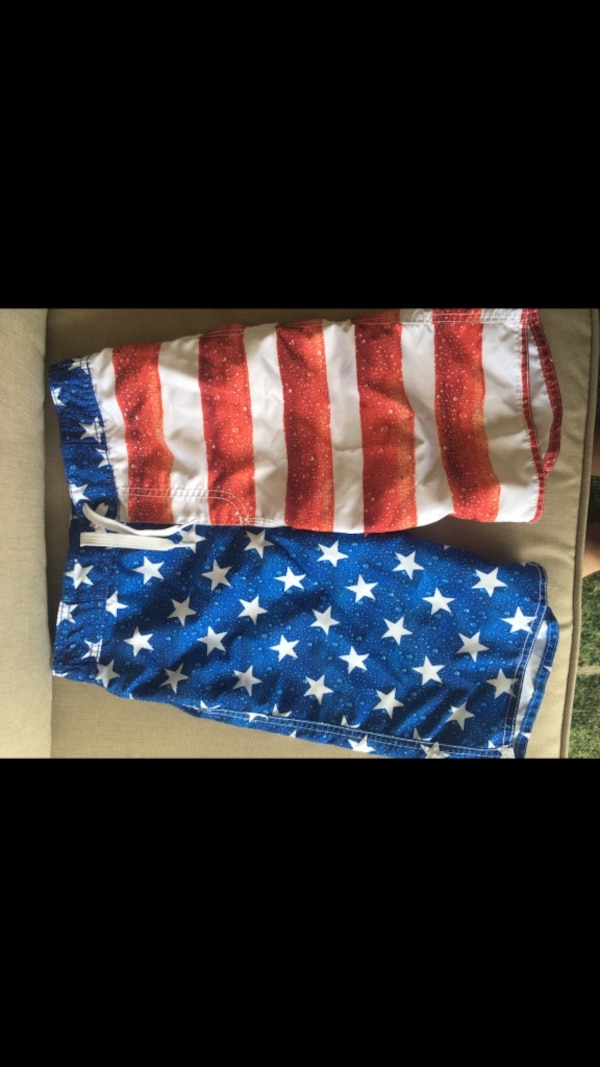 00d6917db2 Used Old navy boys American flag swim trunks for sale in Youngsville ...