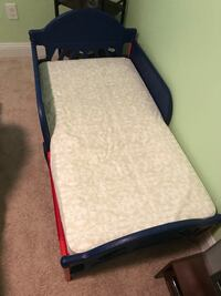 Blue and red bed frame with white mattress  Portsmouth, 23704