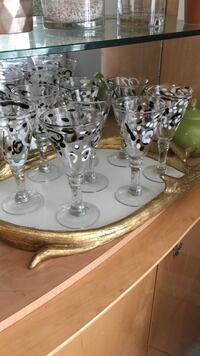 silver-colored and clear glass candle holders Potomac, 20854