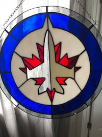 Unique large Winnipeg Jets glass suncatcher  Winnipeg, R3Y 0W5