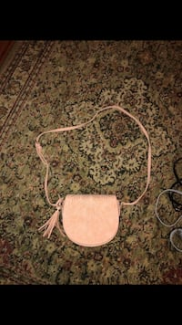 white and gray leather crossbody bag Palm Bay, 32909