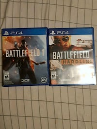 two PS4 Battlefield 1 and Battlefield 1 game cases Oakville