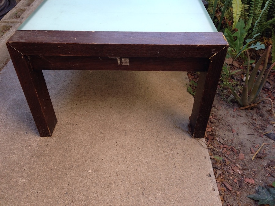 Used glass coffee table 5 39 long in cerritos Used glass coffee table