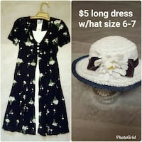 Little girls size 6/7 nice dress with hat Roy