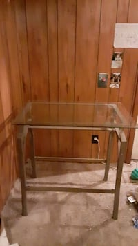 Glass top table .
