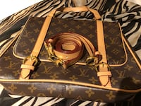 black and brown Louis Vuitton Monogram leather handbag Manassas, 20109