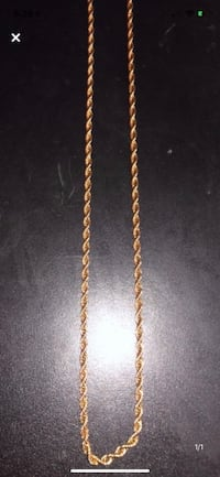 Gold plated rope chain Pickering, L1V