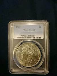 Coin: 1902 Morgan Silver Dollar Palmyra, 17078