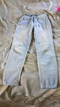 two blue and white denim jeans Pine, 16127