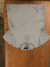 white and black striped scoop-neck shirt Winnipeg, R2H 1T2