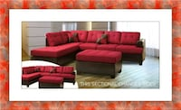 Red sectional free ottoman and delivery brand new Ashburn, 20147