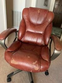 Brown Leather Office Chair Shenandoah, 77381
