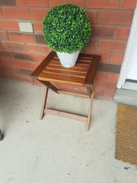 IKEA outdoor table with  fake plant Barrie, L4N 9P9