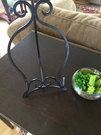 black metal decorative plate stand, can also be used as a Music stand Haddonfield, 08033