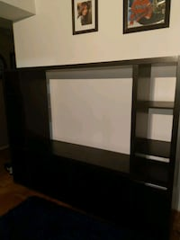Large black entertainment center with adjustable s Kitchener, N2A 1T1