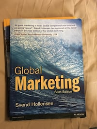 Global Marketing by Svend Hollesen book London, N5V