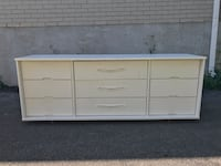 White wooden 9-drawer lowboy dresser Châteauguay, J6K 2P6